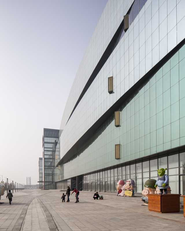 Exterior of the China South City Trade Centre at Xi'an International