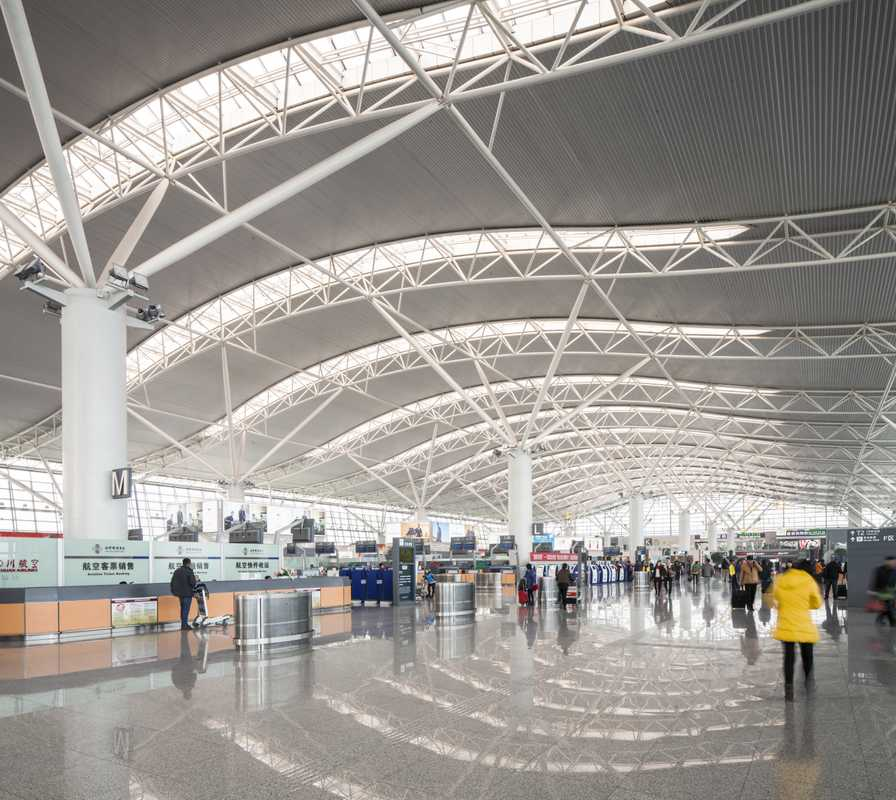 Part of the new Terminal 3 at Xi'an Xianyang International Airport