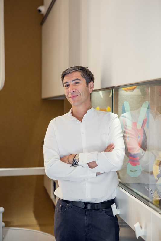 Yannis Sergakis in his new shop