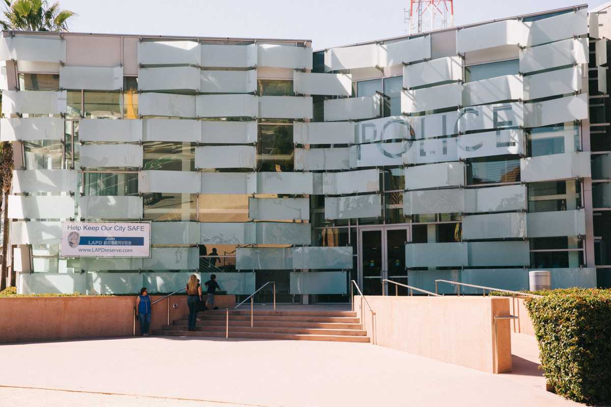 The Los Angeles Police Department's downtown headquarters