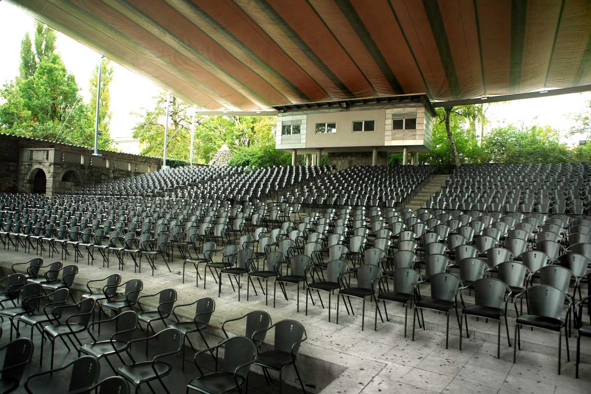 The summer theatre inside the Križanke