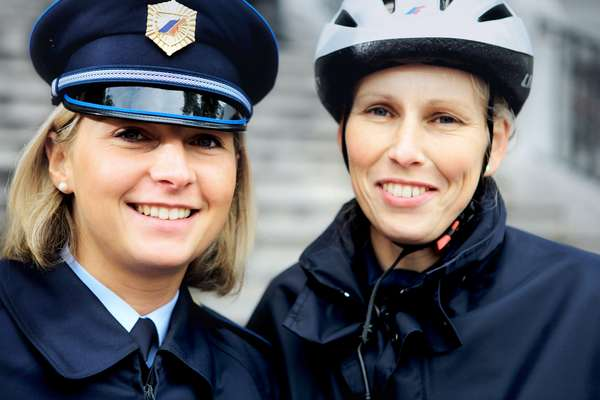 Saša Jakic (right), 31, and Andreja Fabjan, 27, policewomen