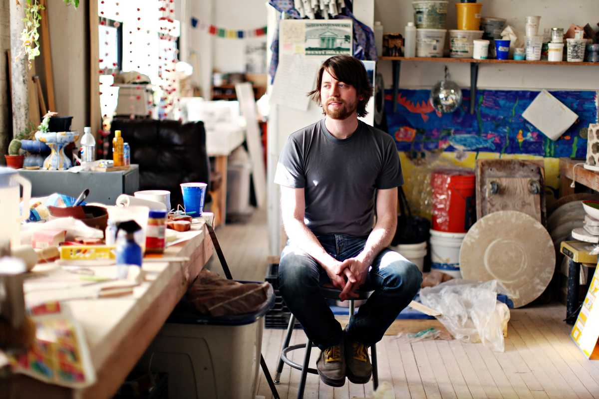 Noel O'Connell, a graduate in fine art ceramics