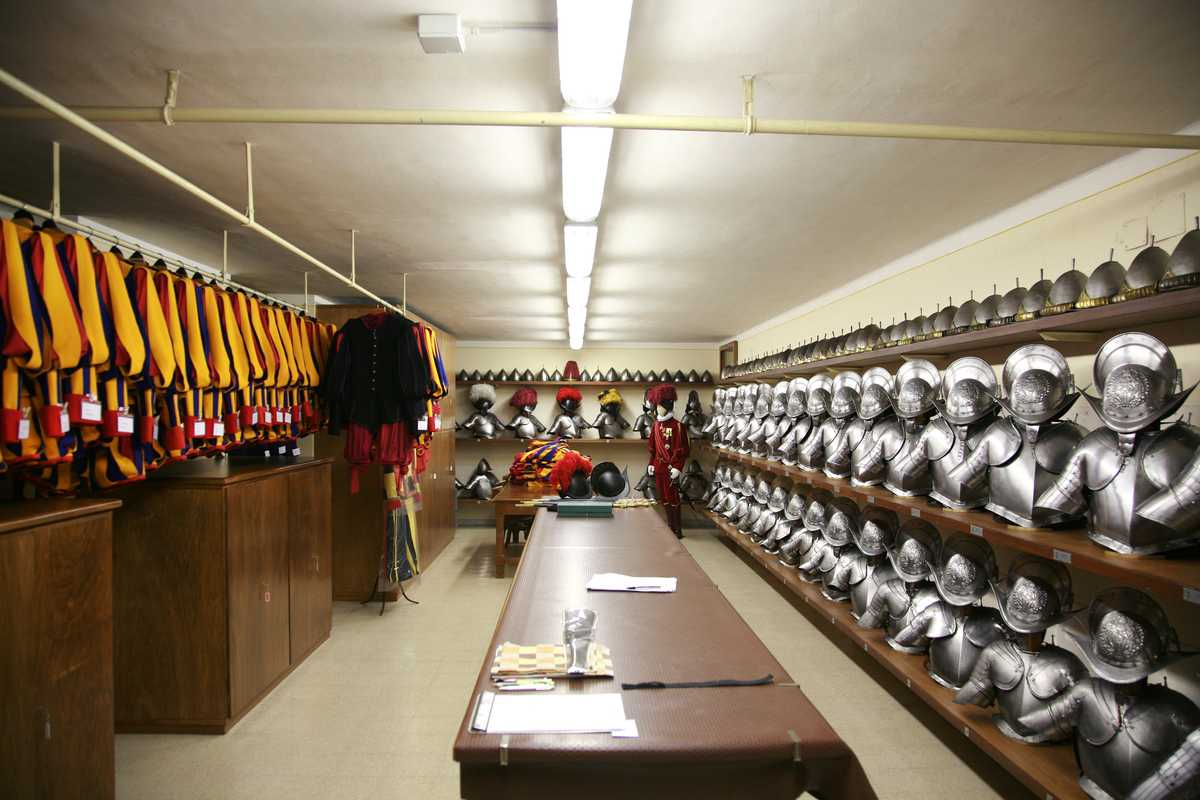 Swiss Guards armoury