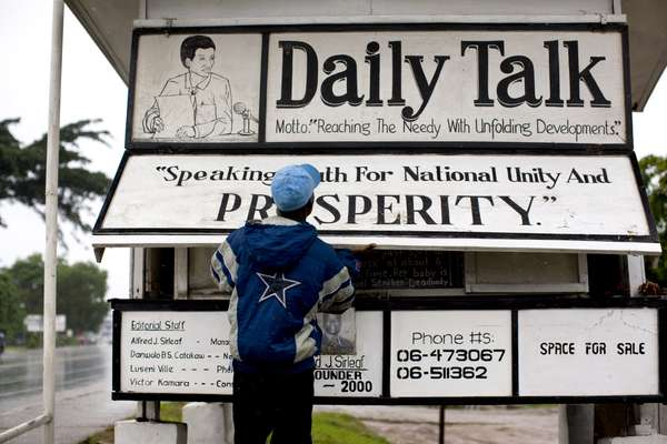 The 'Daily Talk' office was destroyed twice during the civil war of 1999-2003