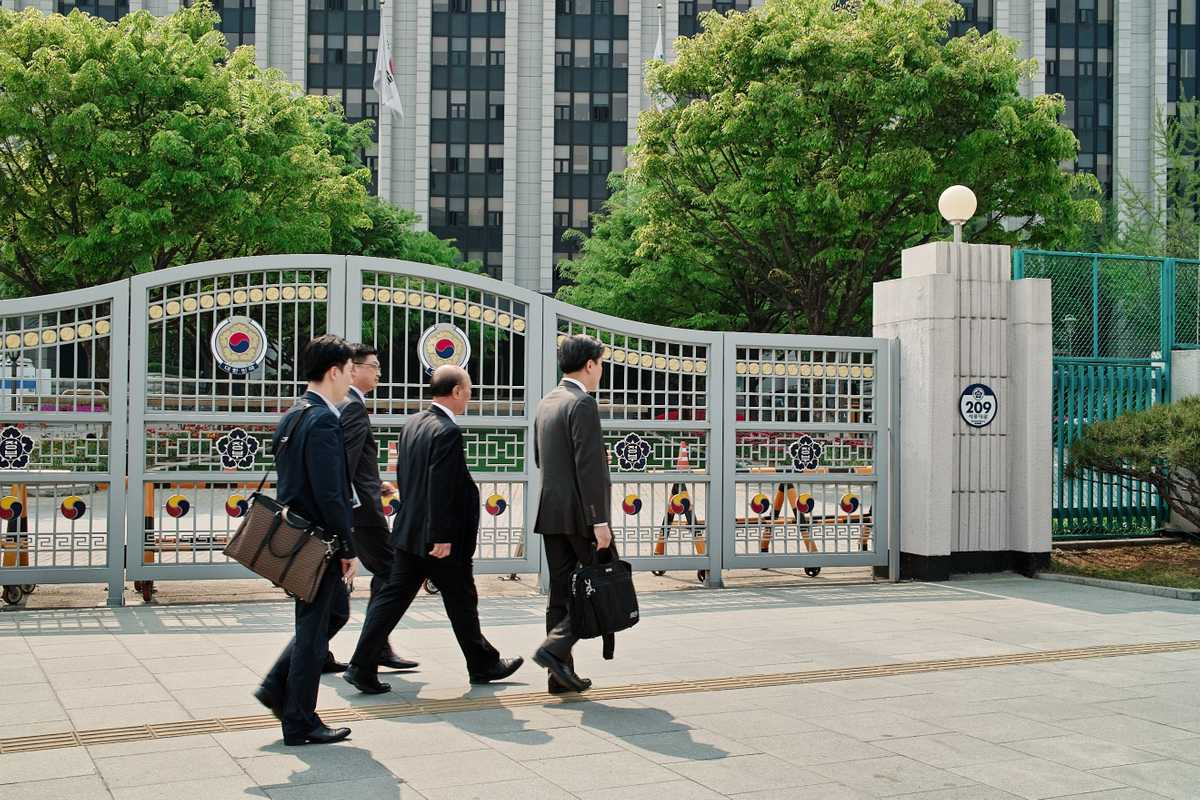 Security is tight around the Ministry of Unification