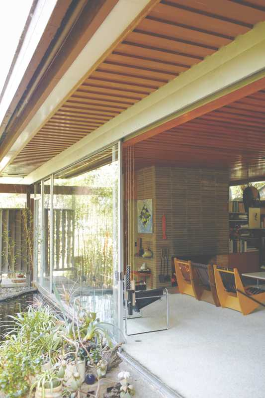 Glass sliding doors onto the garden