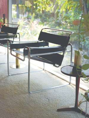 Wassily chairs designed by Marcel Breuer in 1925