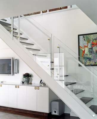 Staircase in Dexter and Maria's house