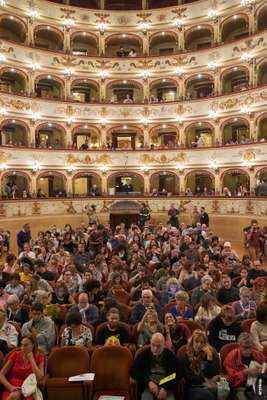 Teatro Comunale, one of Internazionale a Ferrara's main venues, which was built in 1798