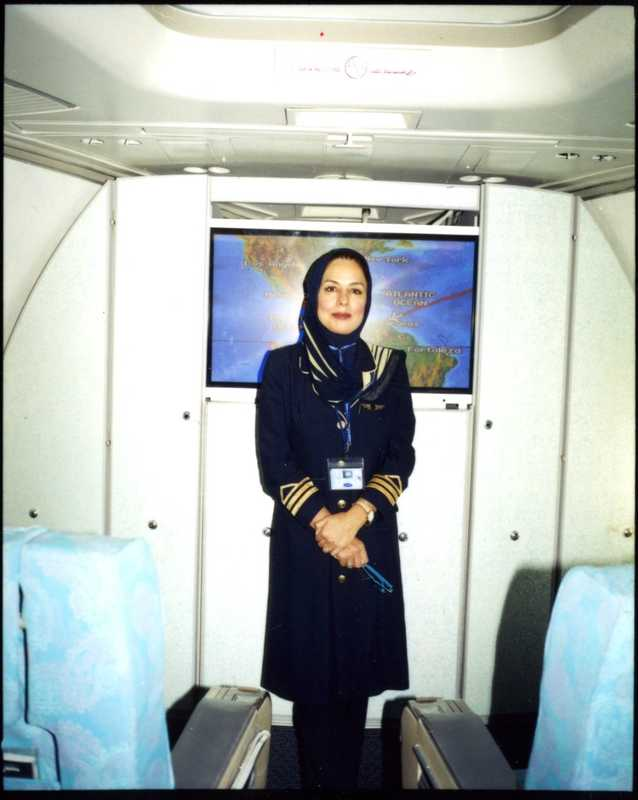 An air stewardess