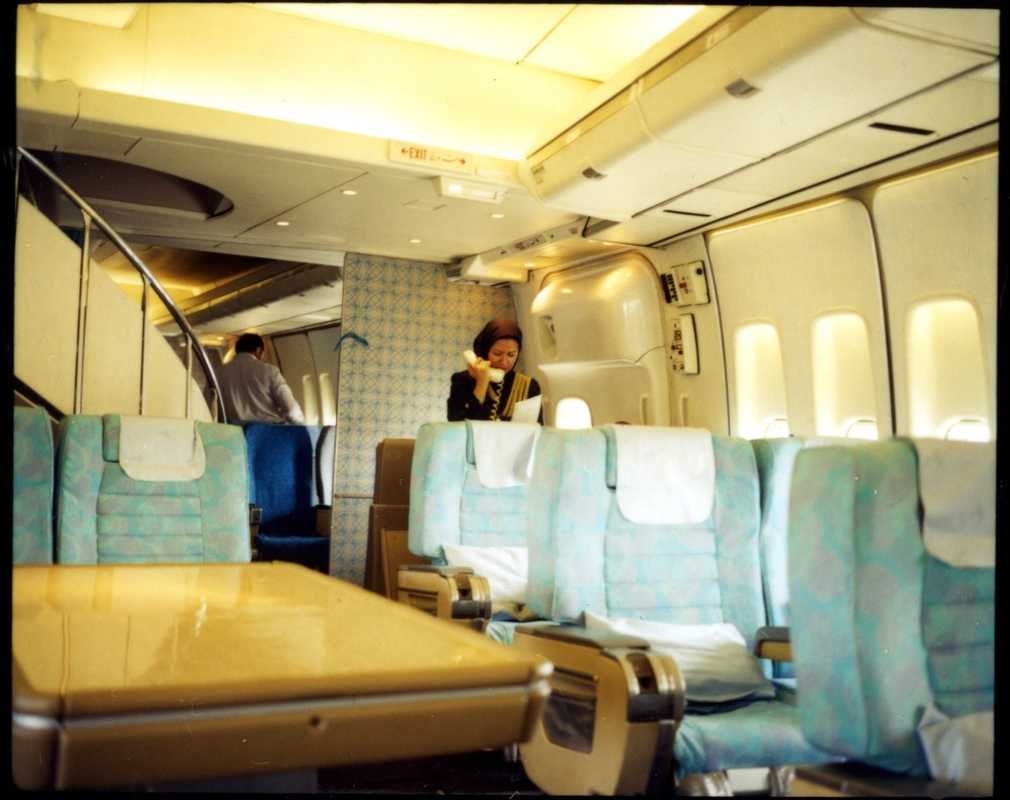 The business-class cabin