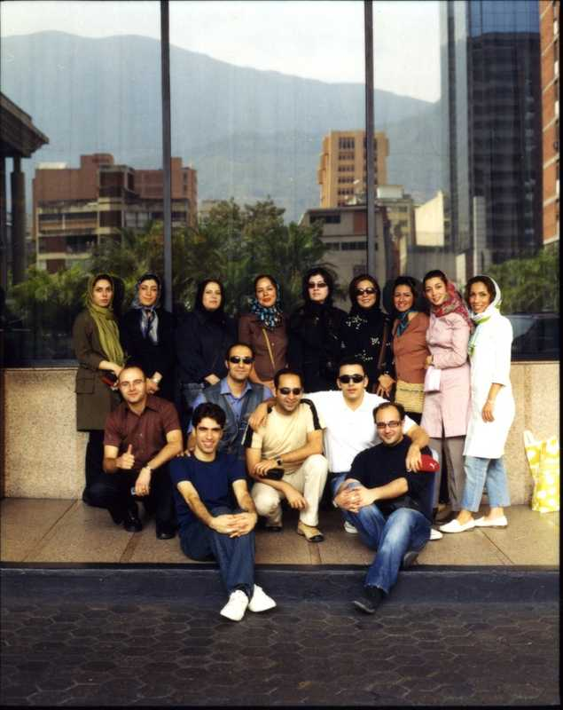 The flight crew of IranAir flight 744 on R&R in Caracas