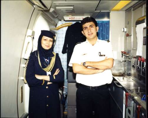 Air crew on the Tehran-Damascus leg