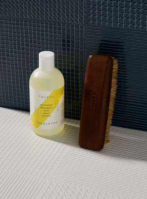 Sportswear detergent and shoe brush, Tangent Garment Care