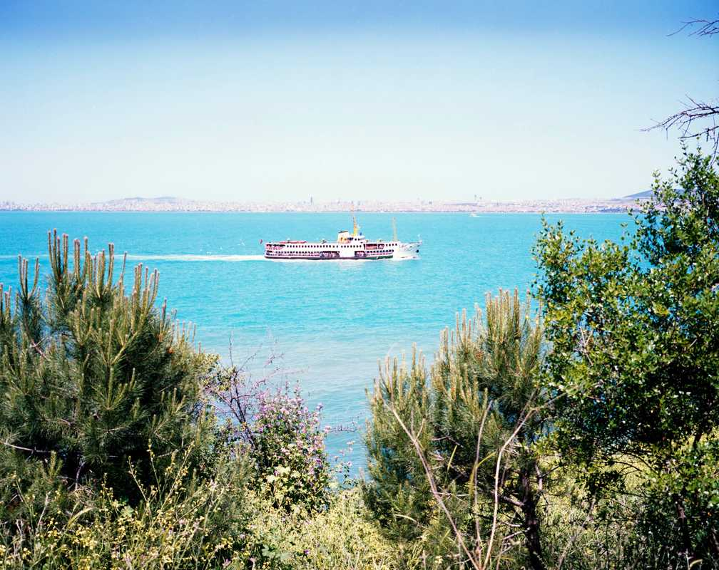 A ferry on its way to the Princes' Islands from Istanbul