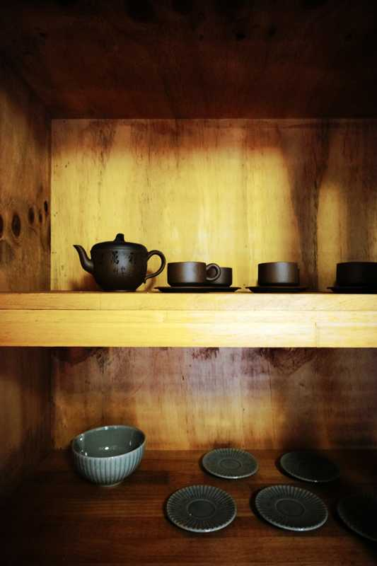 Tea-room cupboard in Fouser's restored house