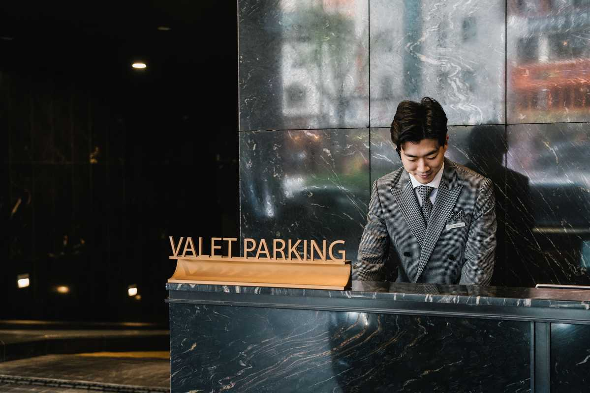 The nerve centre of the hotel's valet operation