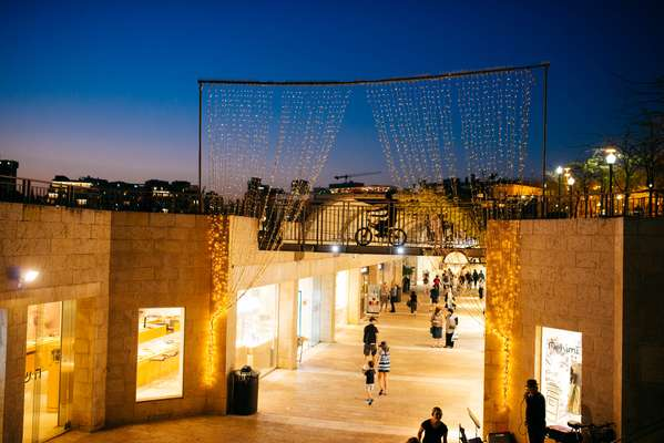 Mamilla Mall, an open-air mall outside Jaffa Gate
