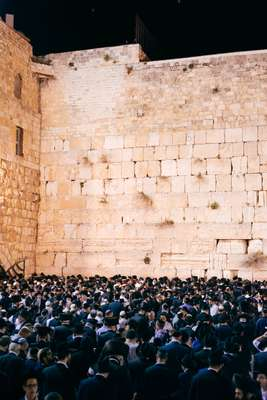 Crowds at  the Western Wall