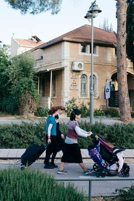 Out for a stroll in German Colony, a Jerusalem neigbourhood that's gentrifying