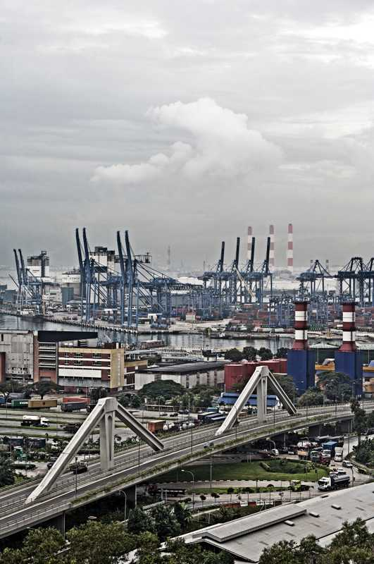 Jurong Island, location of Singapore's chemical industries, is made up of seven small islands joined together