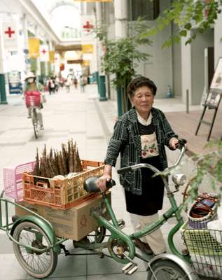 Woman selling bamboo shoots