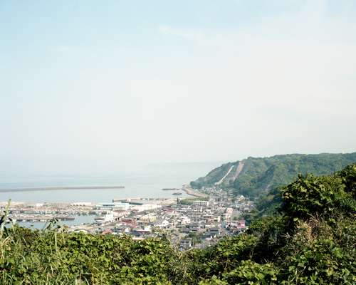 Kanoya fishing port, one of several small towns between Sakurajima and the Osumi peninsula