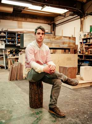 Wood-furniture designer Jeff Martin