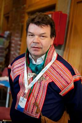 Klemetti Näkkäläjärvi, chairman of the Sami parliament of Finland