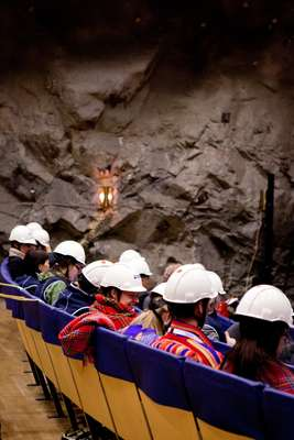 Summit delegates meet deep underground