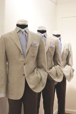 Tailored suits by Kiton