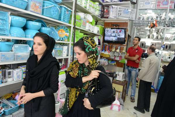 Shopping for kitchenware in South Tehran