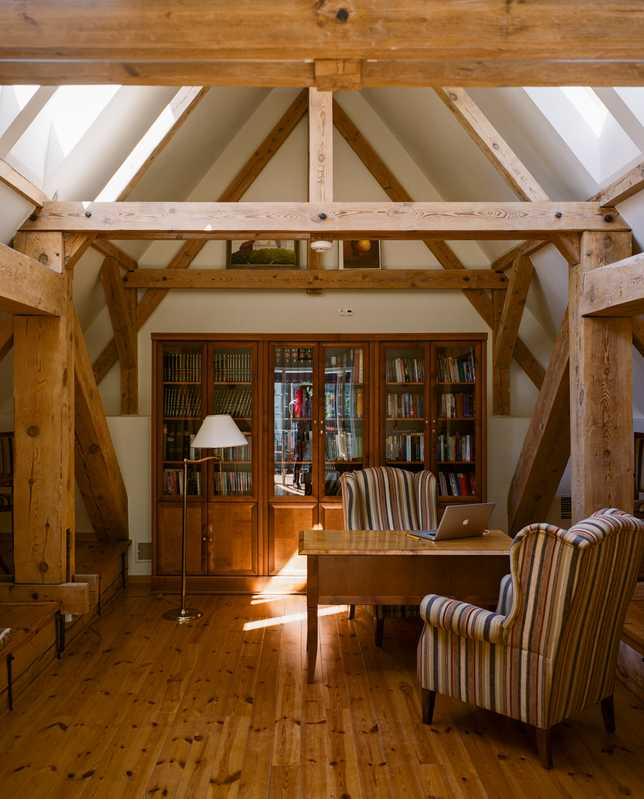 Library with its original wooden beams