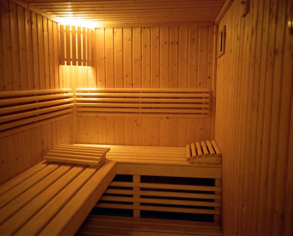 Staff can relax in the sauna