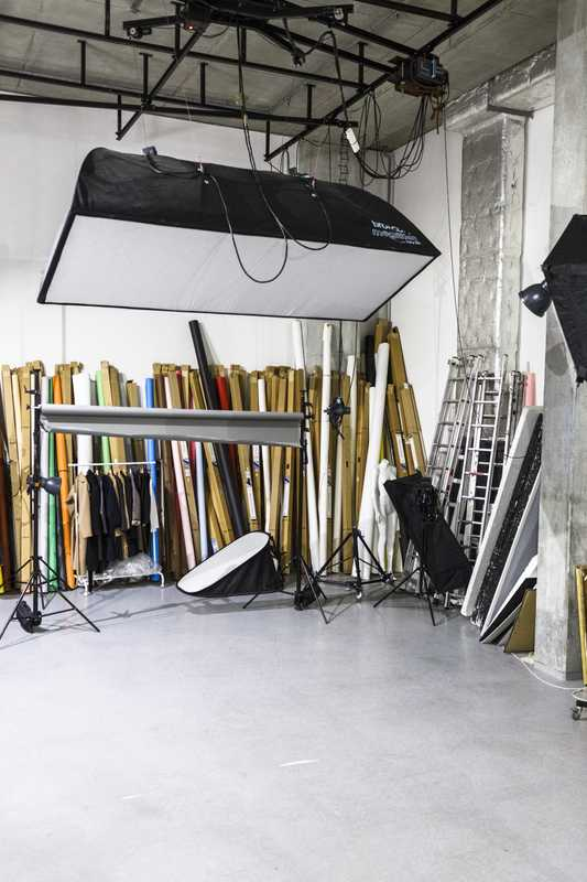 Photo studio in the basement