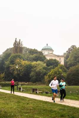 Joggers in Arkadia Park
