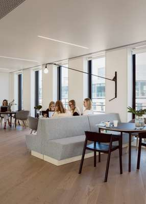 Meeting in the top-floor multifunctional space