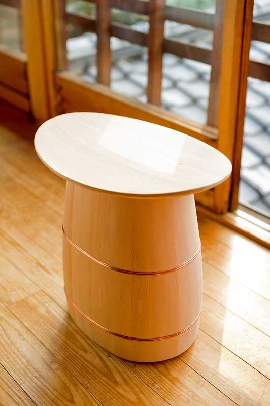 Turned wooden stool by Shuji Nakagawa