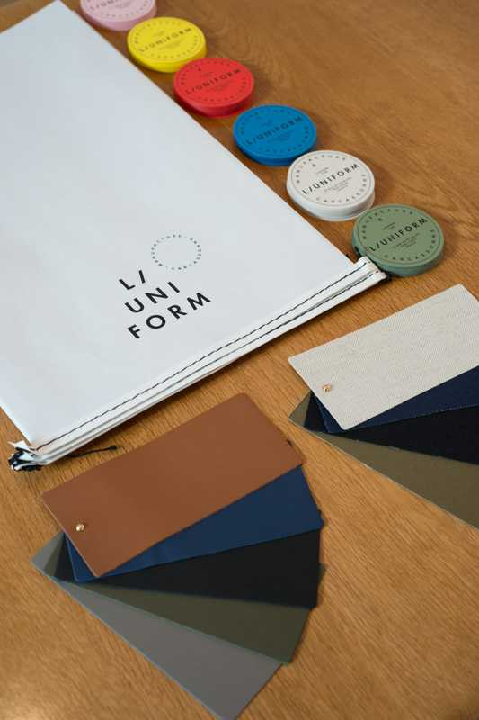 Swatches for colours and fabrics