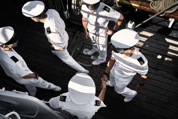 Cadets on board the 'Sagres'