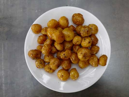 Criolla potatoes – native to Colombia – used to make gnocchi