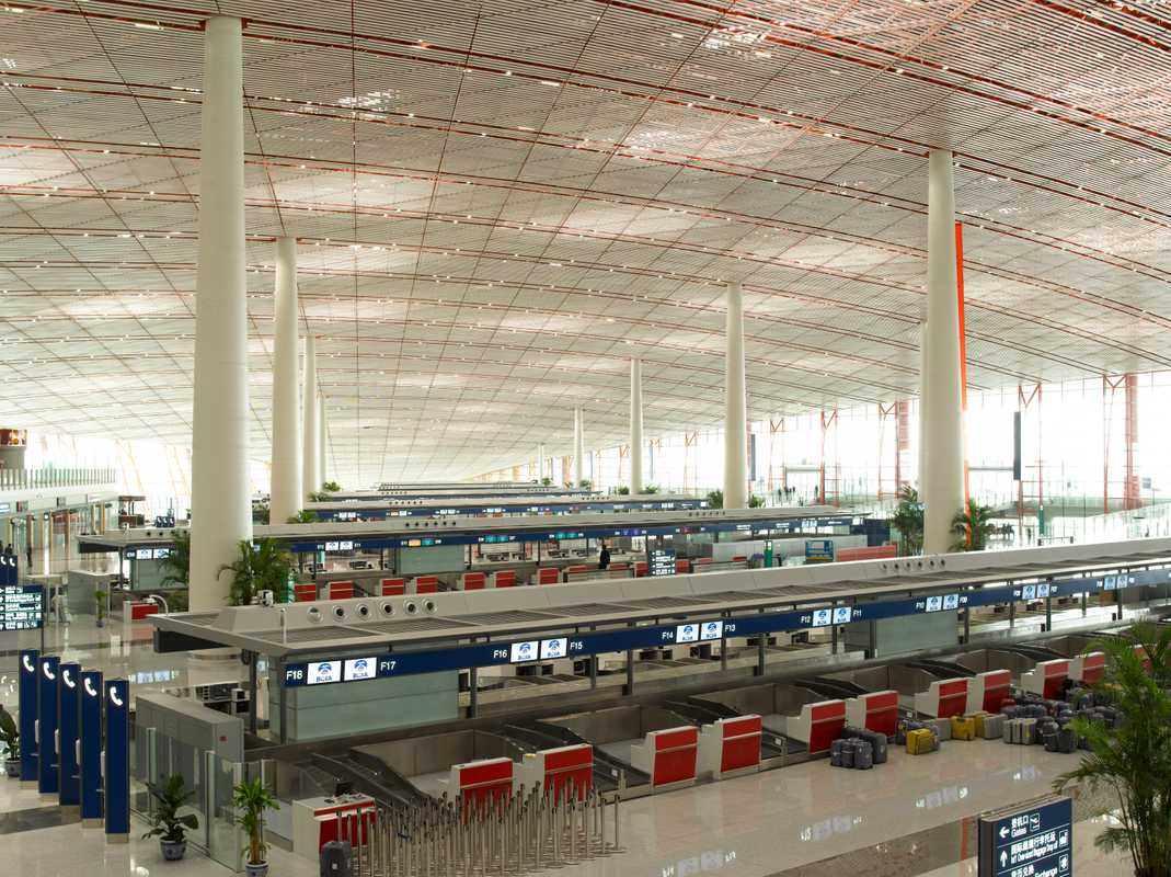 Terminal 3 at Beijing Capital Airport designed by Foster + Partners