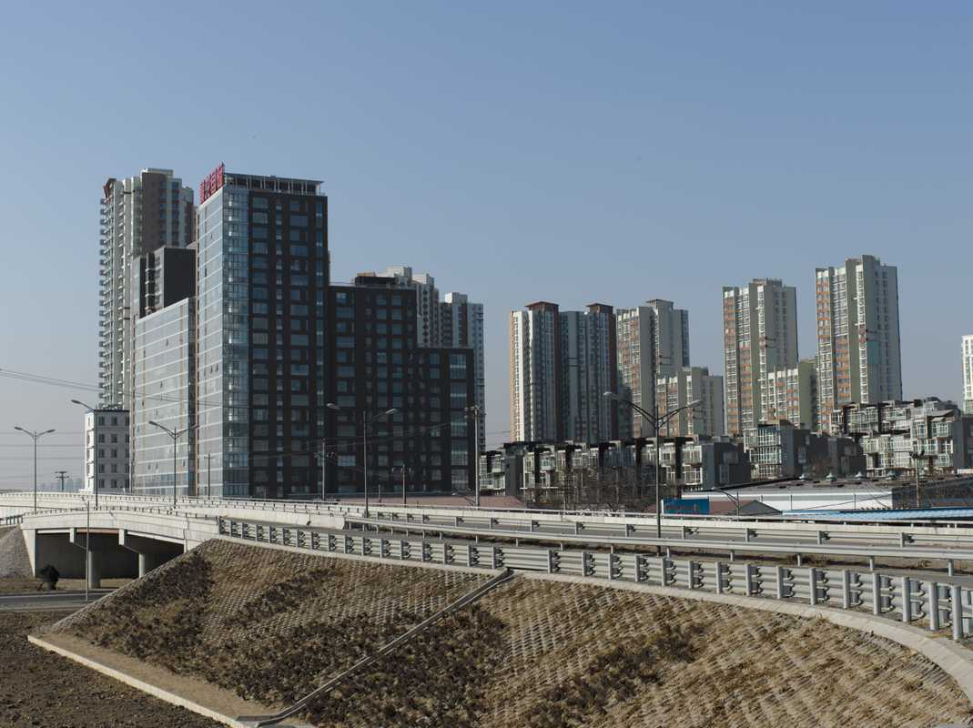 Apartment blocks in suburban Beijing