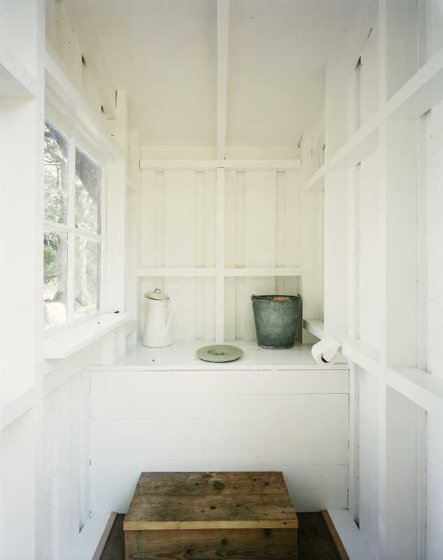 Inside the toilet hut