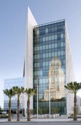 Façade of LAPD's new headquarters