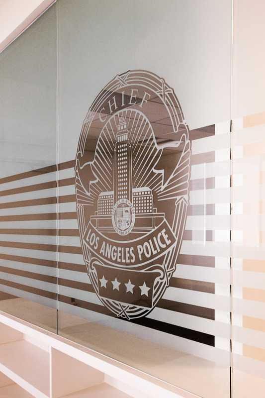 Los Angeles police chief's new office