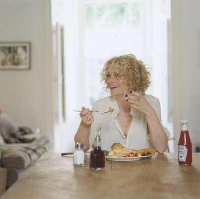 Alison Goldfrapp tucks in to fish and chips