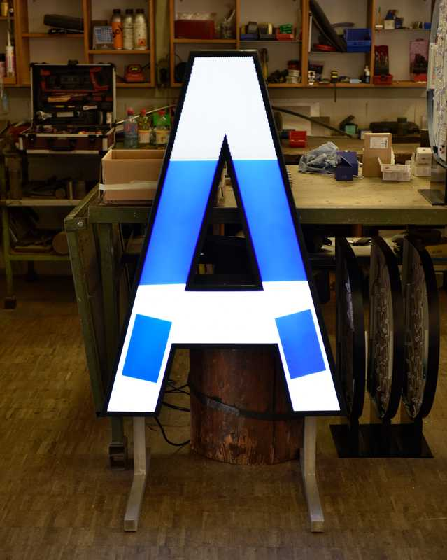 Every neon letter is crafted by hand