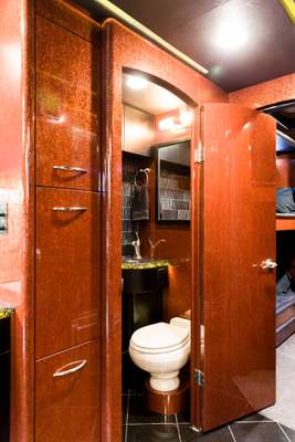 Bathroom of Moonlite coach